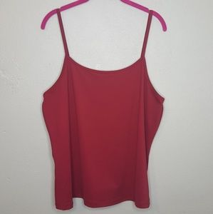 4/$25 14/16W Lane Bryant Red Cami Tank Tee Shirt C